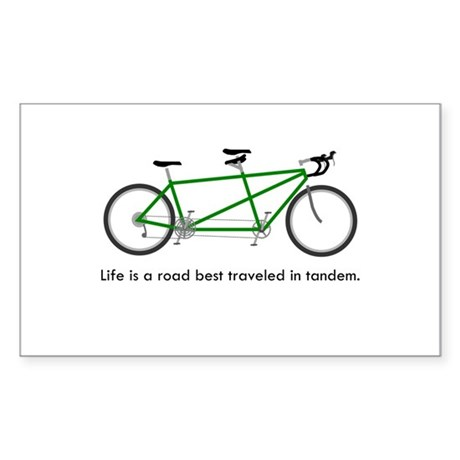 Life is a road Sticker (Rectangle)