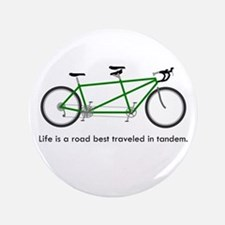 "Life is a road 3.5"" Button"