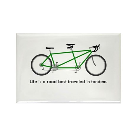 Life is a road Rectangle Magnet