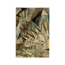 Rush Hour by Max Weber Vintage Cu Rectangle Magnet