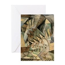 Rush Hour by Max Weber Vintage Cubis Greeting Card