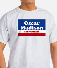 Oscar Madison for Council Ash Grey T-Shirt