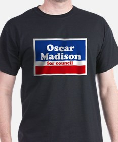 Oscar Madison for Council T-Shirt Black