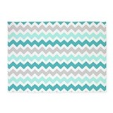 Blue and grey chevron 5x7 Rugs