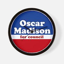 Oscar Madison for Council Wall Clock