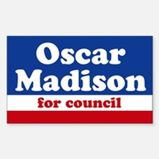 Oscar Madison for Council Rectangle Decal