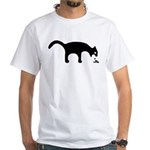 Nice white vomiting cat T-Shirt