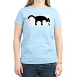 Women's Pink Vomiting Cat T-Shirt