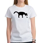 Women's White Vomiting Cat T-Shirt