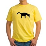 2-sided Yellow Vomiting Cat T-Shirt
