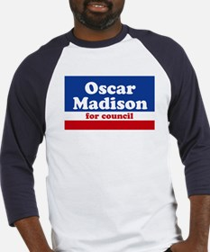 Oscar Madison for Council Baseball Jersey