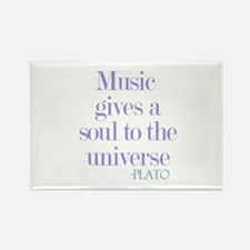 Music gives soul Rectangle Magnet (10 pack)