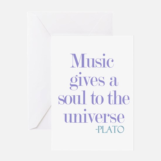 Music gives soul Greeting Card
