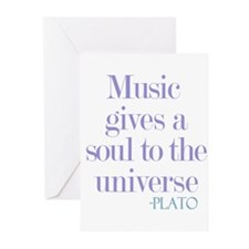 Music gives soul Greeting Cards (Pk of 10)