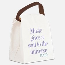 Music gives soul Canvas Lunch Bag