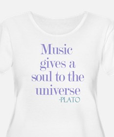 Music gives soul Plus Size T-Shirt