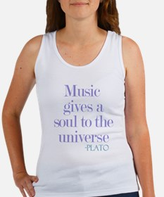 Music gives soul Tank Top