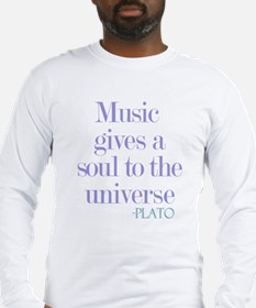 Music gives soul Long Sleeve T-Shirt