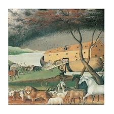 Noah's Ark by Edward Hicks Tile Coaster