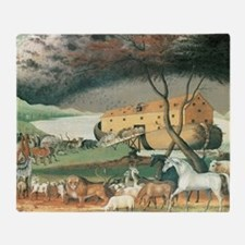 Noah's Ark by Edward Hicks Throw Blanket