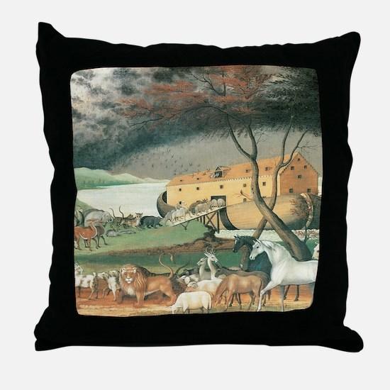 Noah's Ark by Edward Hicks Throw Pillow