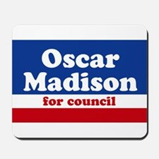 Oscar Madison for Council Mousepad