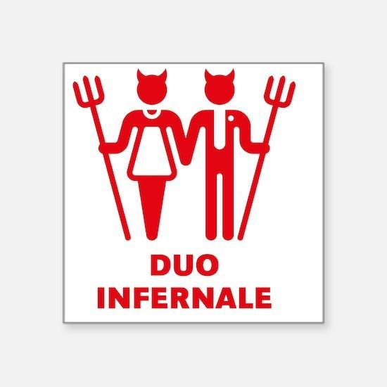 "Duo Infernale Square Sticker 3"" x 3"""