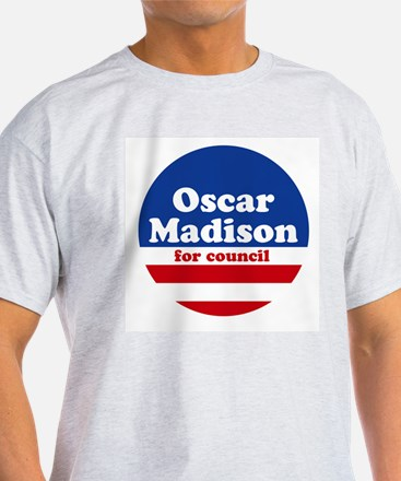 Madison for Council Ash Grey T-Shirt
