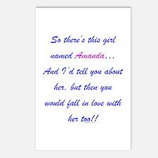 Girl named Amanda Postcards (Package of 8)