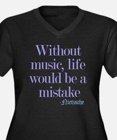 music and life Plus Size T-Shirt