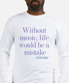 music and life Long Sleeve T-Shirt