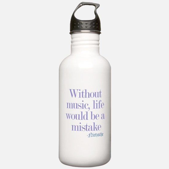 music and life Water Bottle