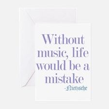 music and life Greeting Cards (Pk of 10)