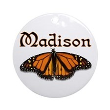 """""""Madison Monarch Butterfly"""" Ornament (Round)"""
