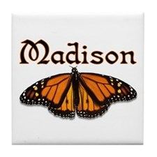 """Madison Monarch Butterfly"" Tile Coaster"