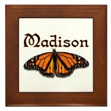 """Madison Monarch Butterfly"" Framed Tile"