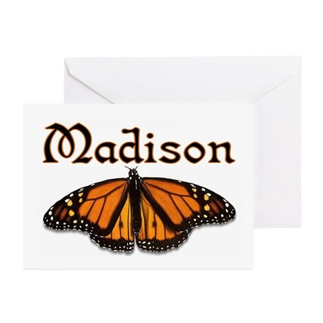"""""""Madison Monarch Butterfly"""" Greeting Cards (Packag"""