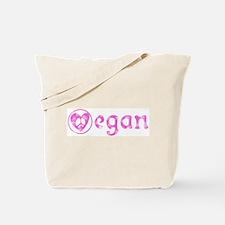 peace, love, vegan Tote Bag