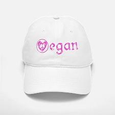 peace, love, vegan Baseball Baseball Cap