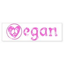 peace, love, vegan Bumper Car Sticker