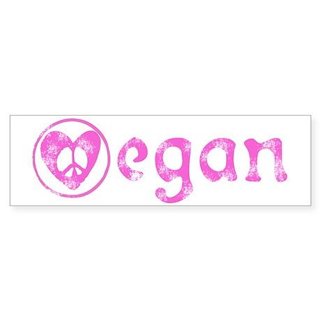 peace, love, vegan Bumper Sticker