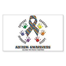 Autism Awareness Rectangle Decal