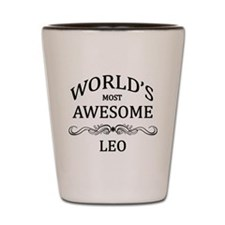 World's Most Awesome Leo Shot Glass