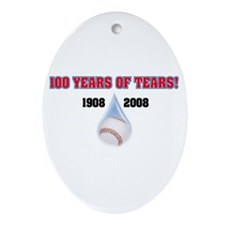 100 Years T-Shirt Oval Ornament