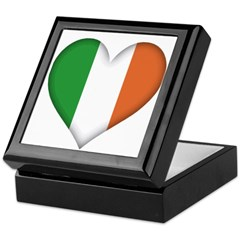 Irish Heart Keepsake Box