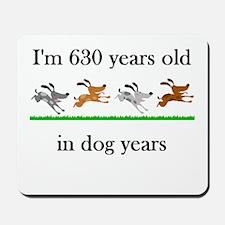 90 birthday dog years 1 Mousepad