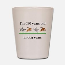 90 birthday dog years 1 Shot Glass