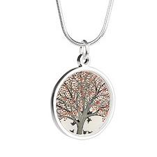 Barbados Stray Cats Silver Round Necklace