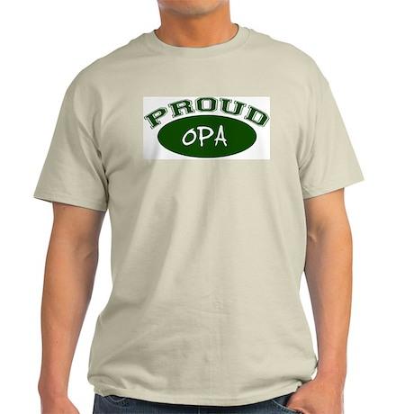 Proud Opa (green) Ash Grey T-Shirt