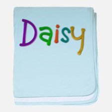 Daisy Play Clay baby blanket